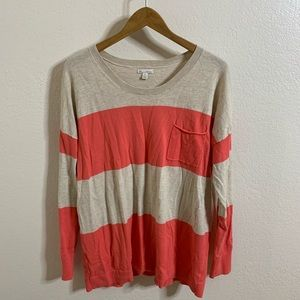Gap block stripe pocket sweater